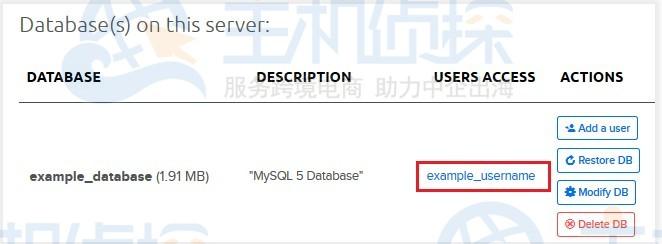 删除数据库用户