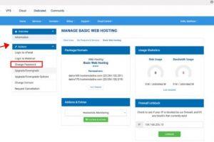 Hostwinds账户密码更改