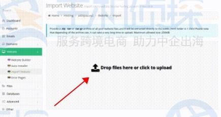 网站导入功能上传文件
