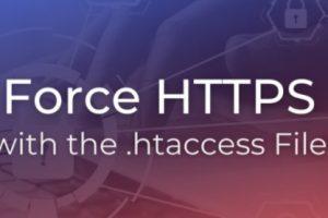 使用.htaccess文件强制跳转至https