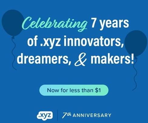 Dynadot庆祝.xyz成立七周年特惠