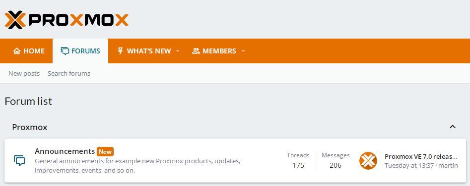 Proxmox VE 7.0