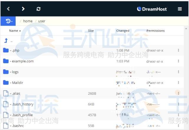 DreamHost文件管理器