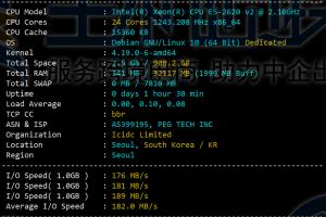 RAKsmart韩国服务器CPU和I/O读写