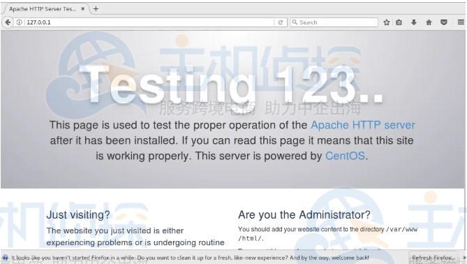 浏览器测试apache