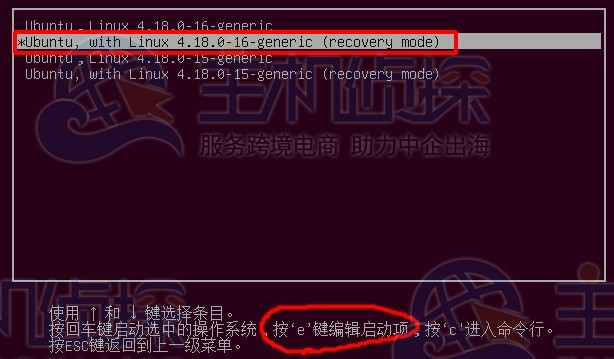 recovery mode模式
