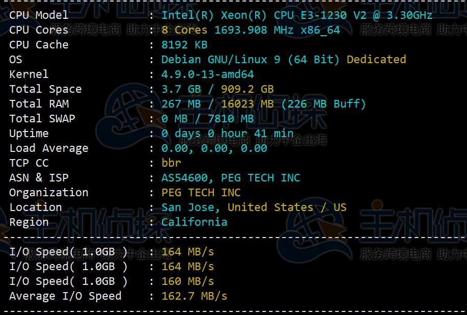 RAKsmart美国服务器国际BGP线路评测