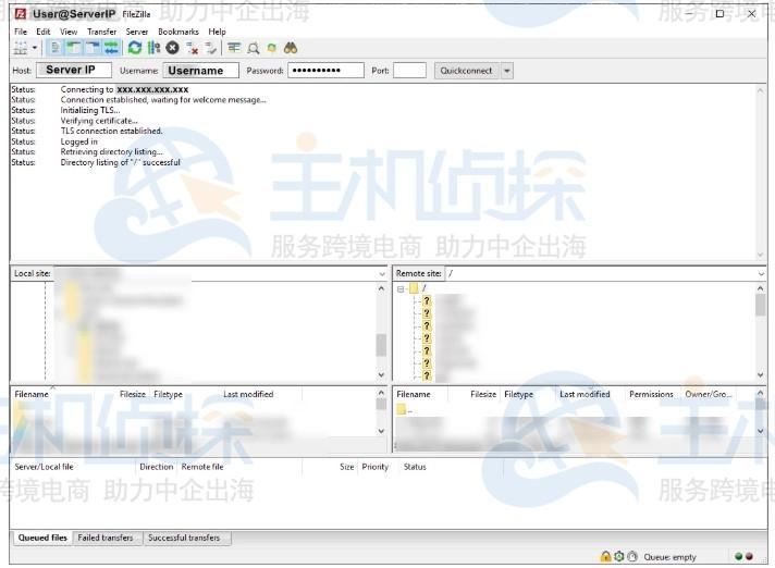FTP客户端上传文件到共享主机