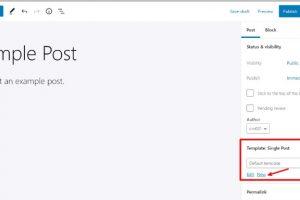 WordPress单个页面模板编辑模式